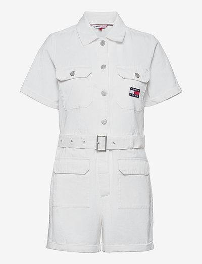 TJW SHORT BOILERSUIT - clothing - white