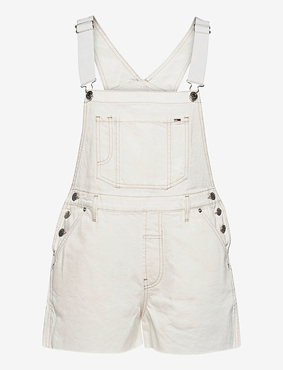 OVERSIZE DUNGAREE SHORT SSPWR - clothing - save sp white rgd