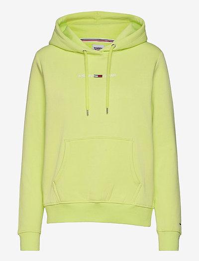 TJW LINEAR LOGO HOODIE - sweatshirts & hoodies - faded lime