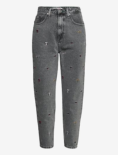 MOM JEAN HR TPRD SSPGR - mom jeans - save sp critter grey rig