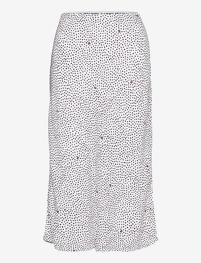 TJW PRINTED MIDI SLIP SKIRT - midi kjolar - dot print