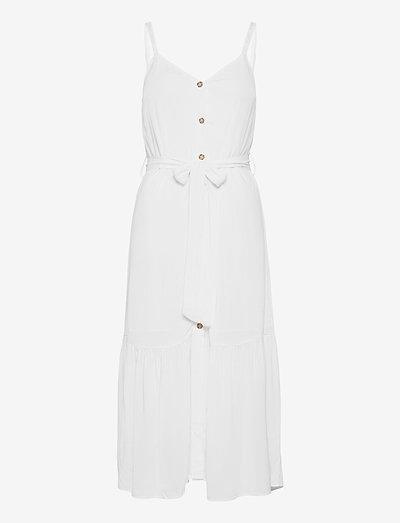 TJW BUTTON THRU MIDI DRESS - sommarklänningar - white