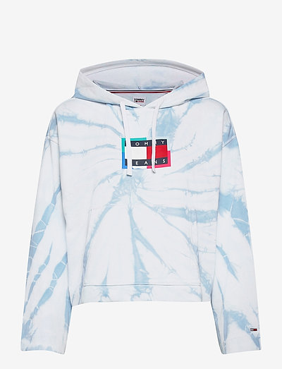 TJW BOXY TIE-DYE FLAG HOODIE - sweatshirts & hoodies - tie dye print