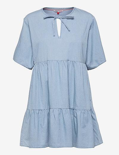 TJW SUMMER CHAMBRAY KAFTAN DRESS - sommarklänningar - mid indigo