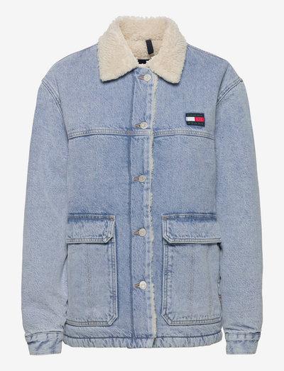 WORKER SHERPA JCKT BE715 SVLBRG - jeansjackor - denim light