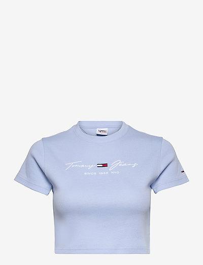 TJW RIB BABY TEE - t-shirt & tops - light powdery blue