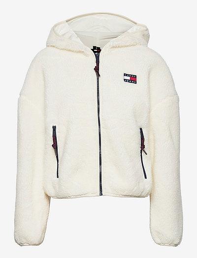 TJW SHERPA HOODED JACKET - sweatshirts & hoodies - snow white