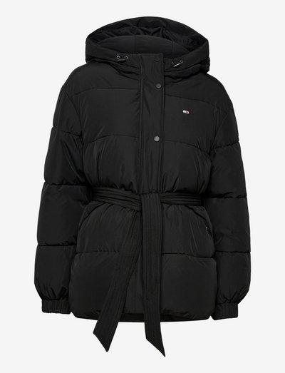TJW BELTED PUFFER - vinterjakker - black