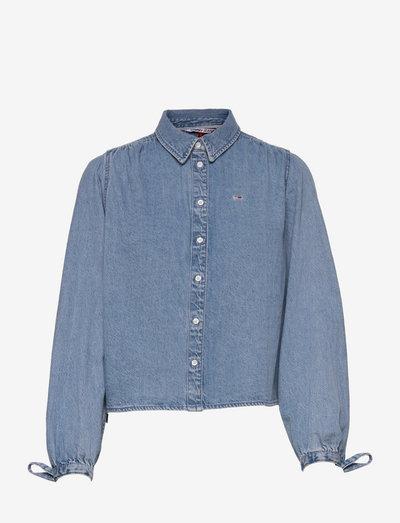 TJW DENIM BLOUSE - långärmade skjortor - denim medium