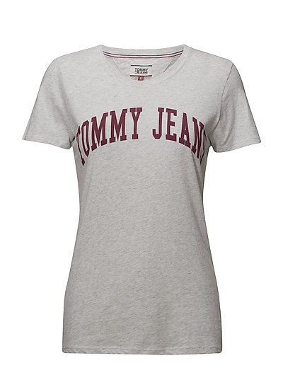 TJW CLEAN LOGO TEE - PALE GREY HEATHER