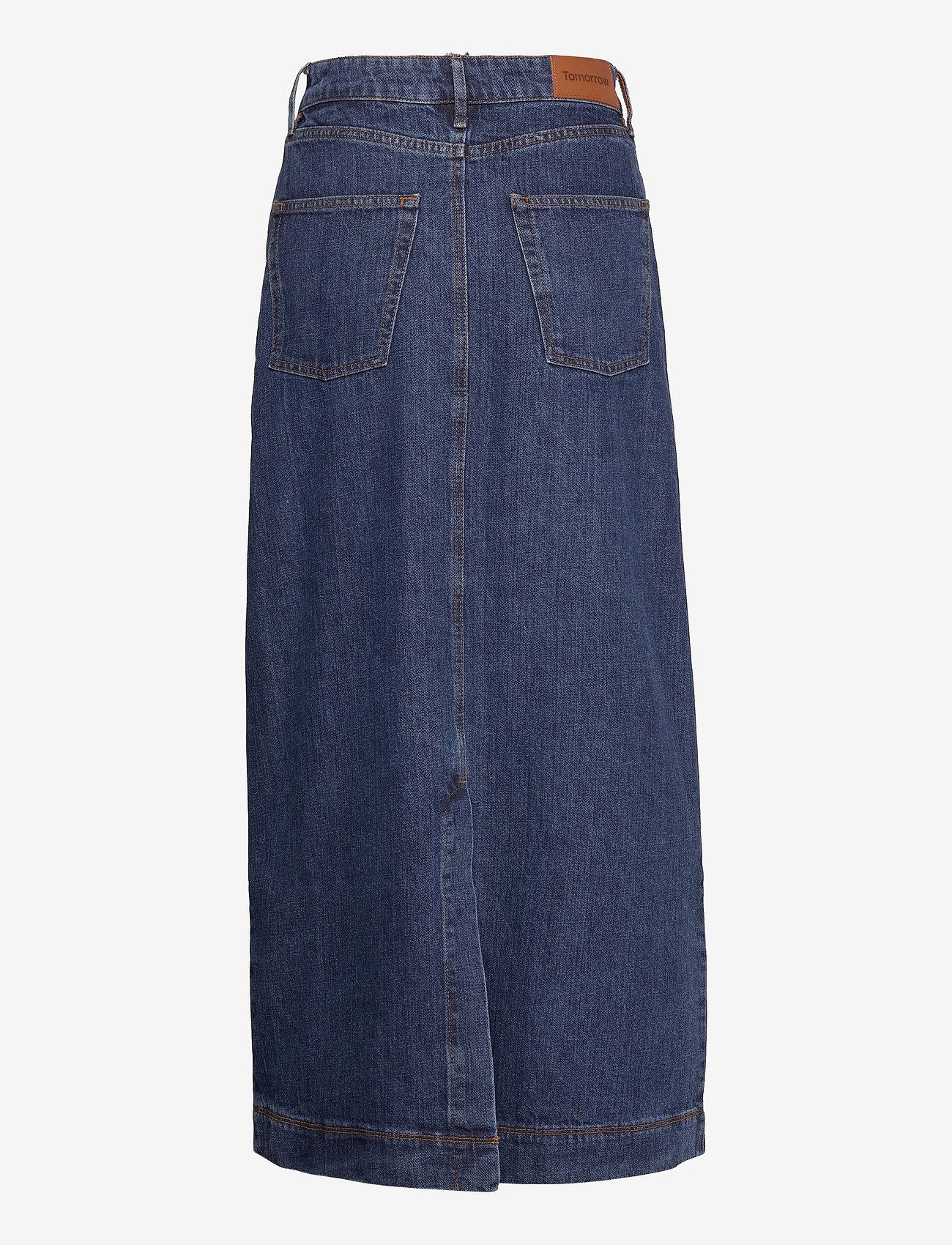 Tomorrow - Mandela maxi skirt wash dark Oxford - denim skirts - denim blue - 3