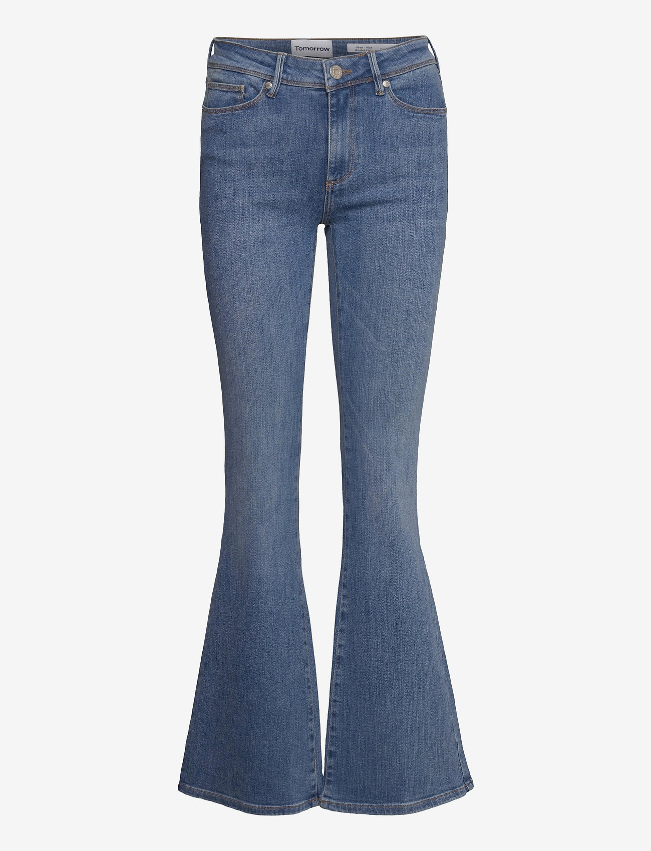 Tomorrow - Albert flare jeans wash bright Sint - schlaghosen - denim blue - 0