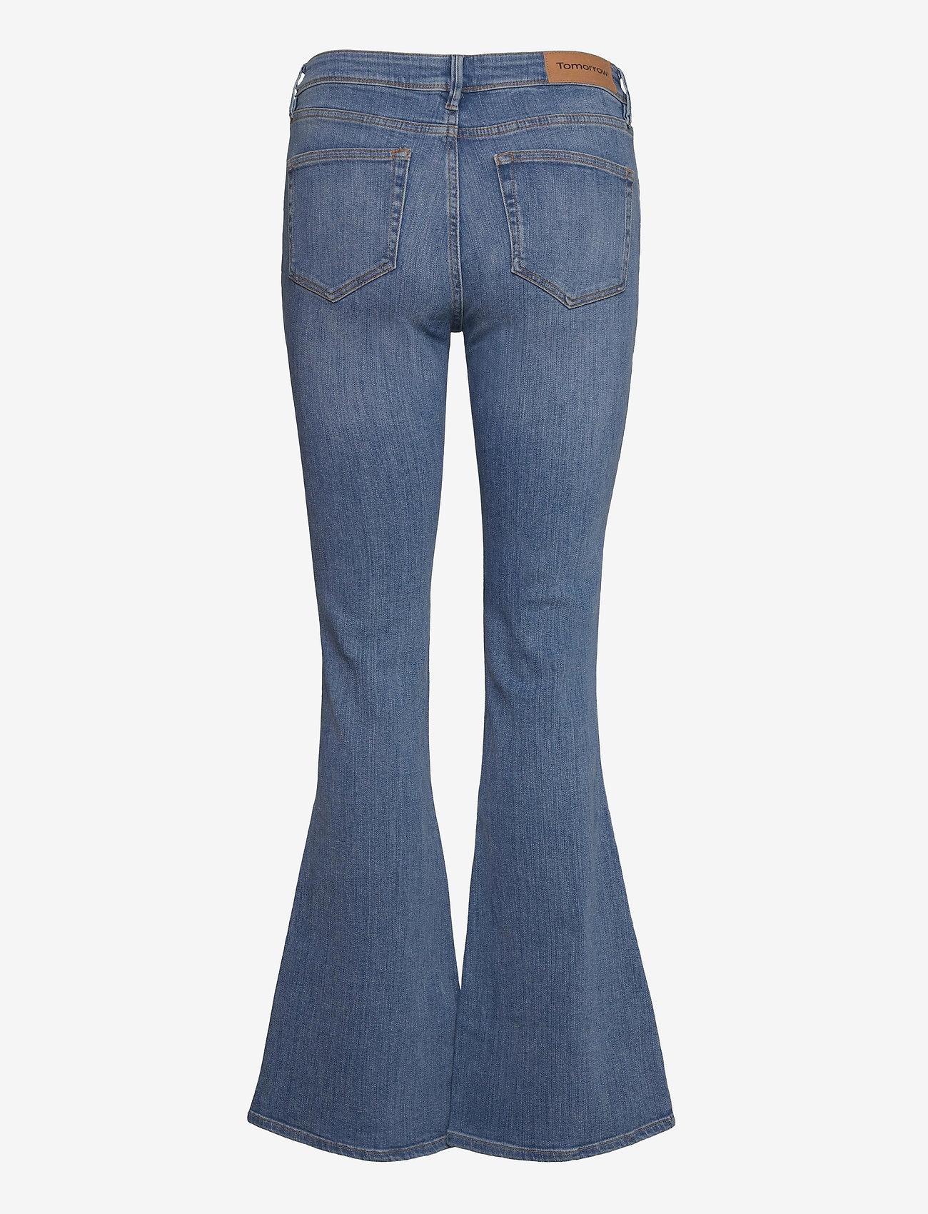 Tomorrow - Albert flare jeans wash bright Sint - schlaghosen - denim blue - 1