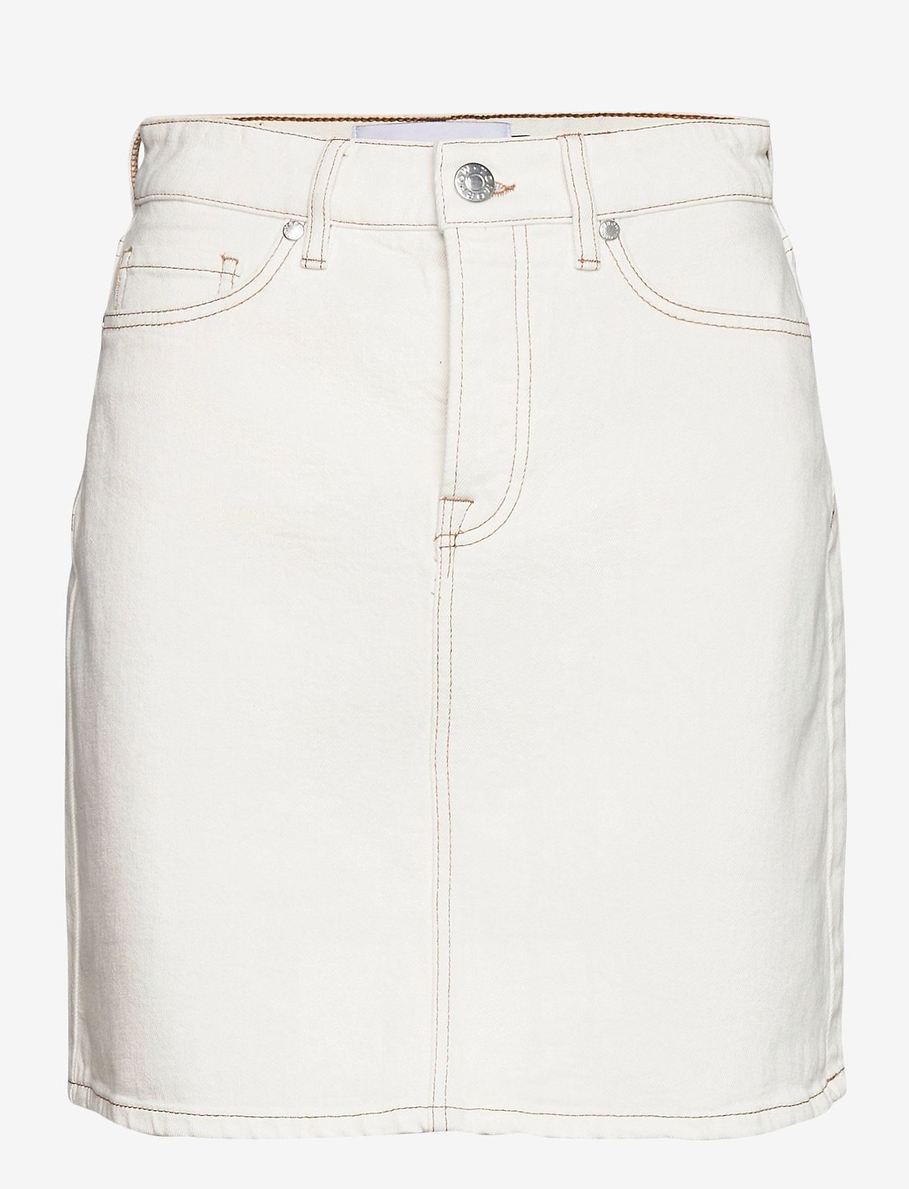 Tomorrow - Mandela denim skirt color - kurze röcke - ecru - 0