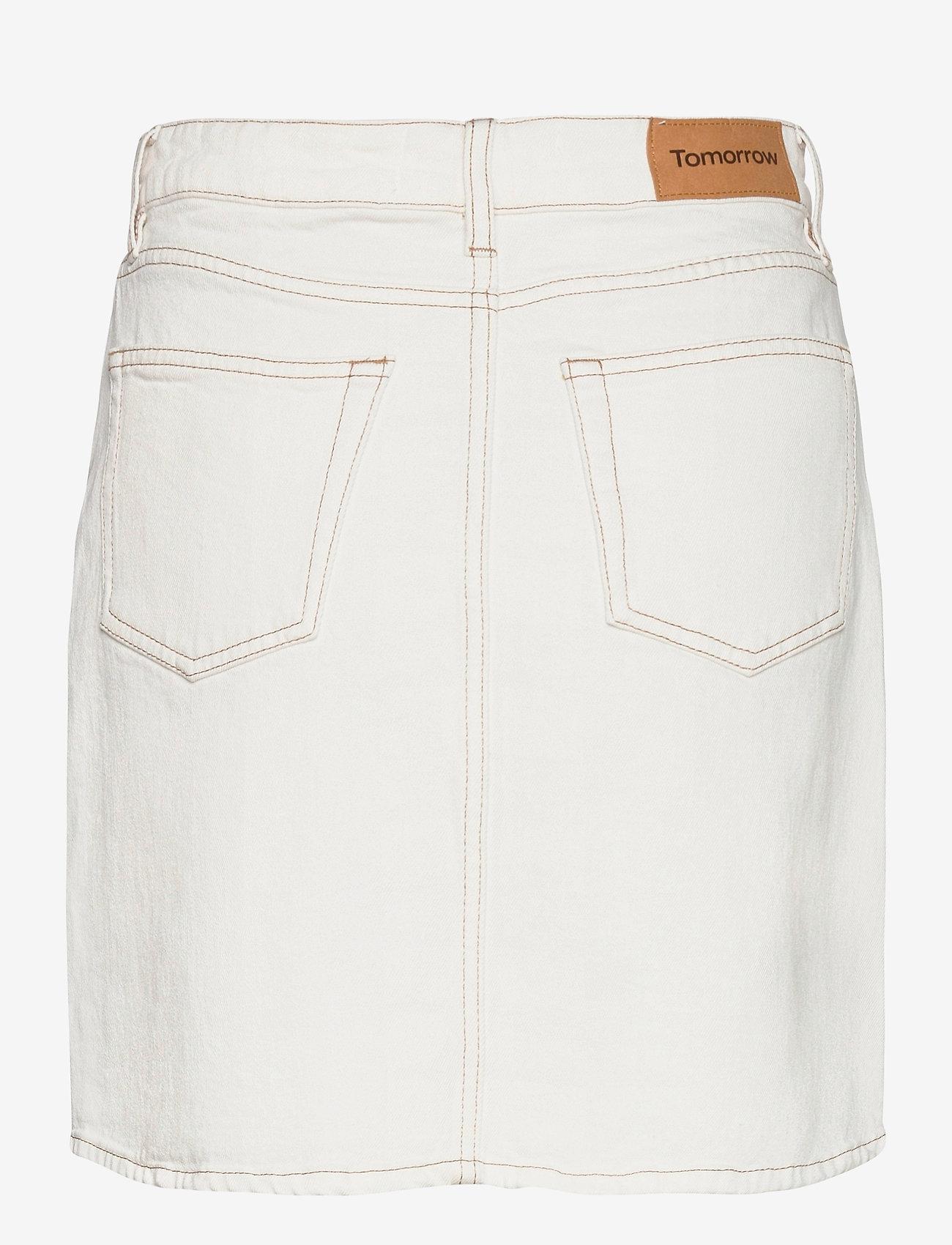 Tomorrow - Mandela denim skirt color - kurze röcke - ecru - 1