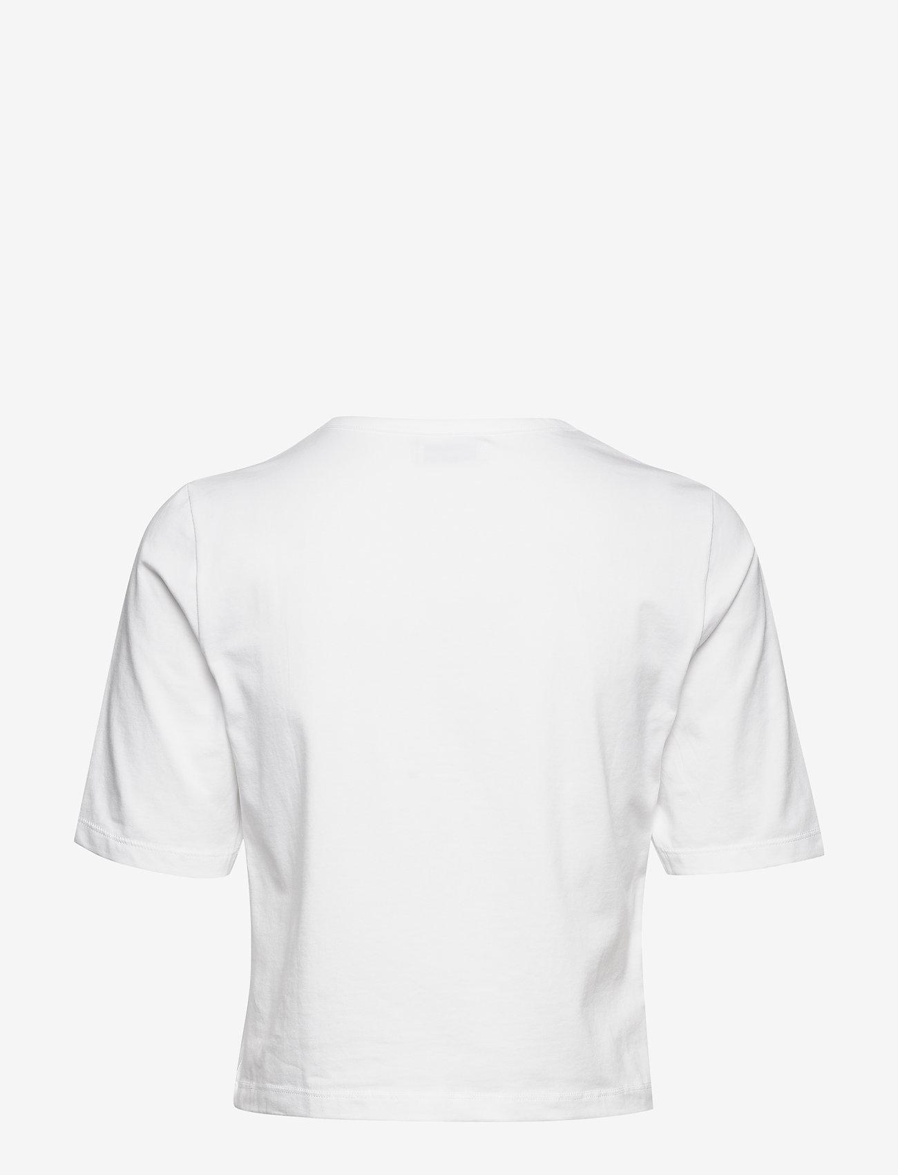 Tomorrow - Lennon button cropped tee - crop tops - white - 1