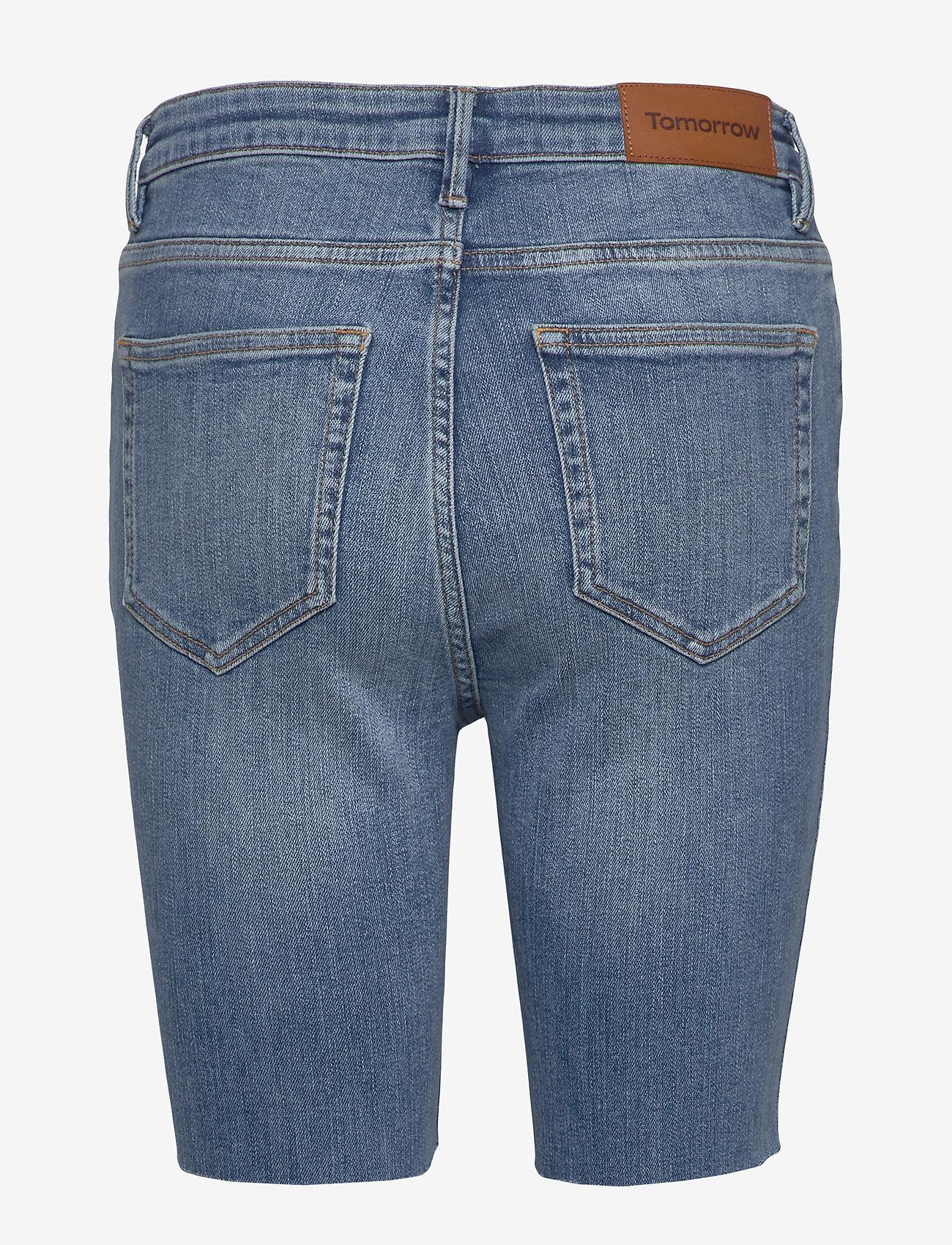 Tomorrow - Bowie HW shorts wash bright Sintra - jeansshorts - denim blue - 1