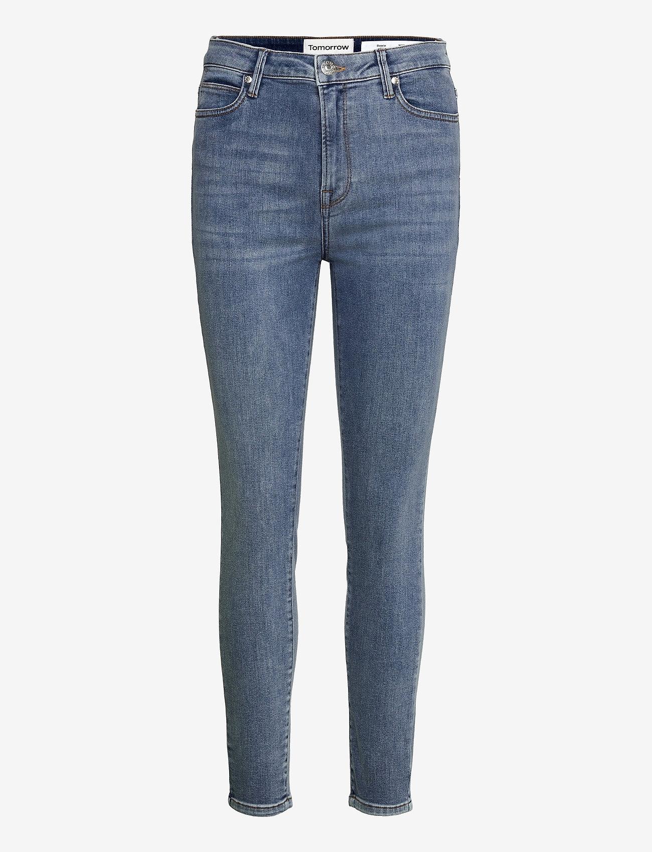 Tomorrow - Bowie HW Cropped Los Felix Worn - skinny jeans - denim blue - 0