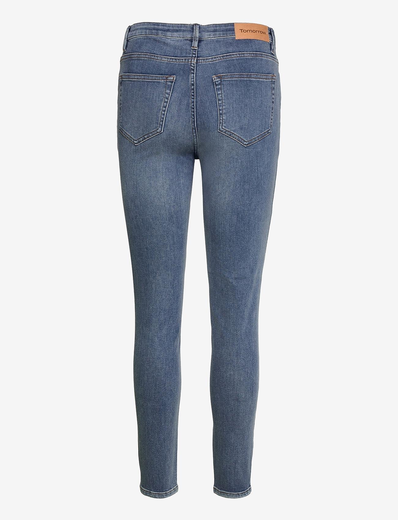 Tomorrow - Bowie HW Cropped Los Felix Worn - skinny jeans - denim blue - 1