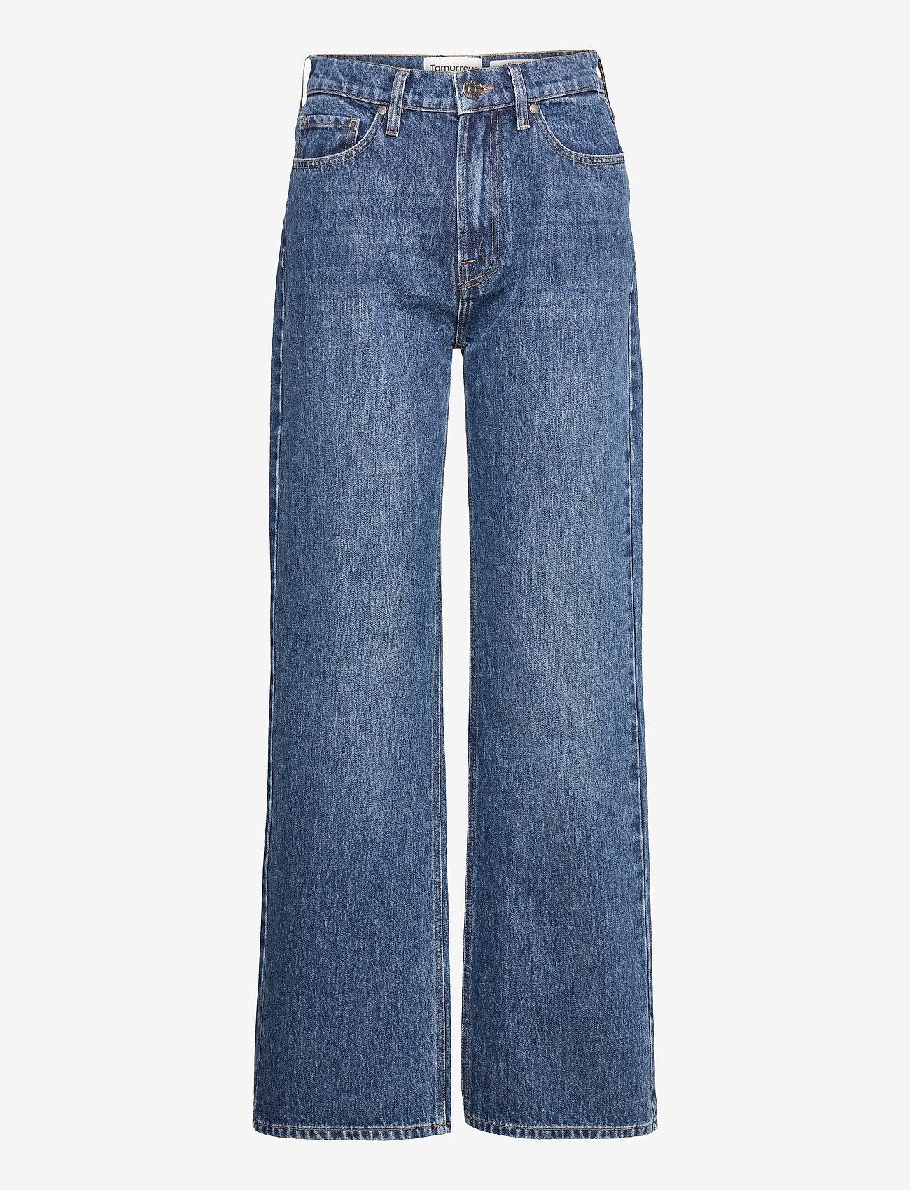 Tomorrow - Brown Straight Jeans Bright Orlando - hosen mit weitem bein - denim blue - 0