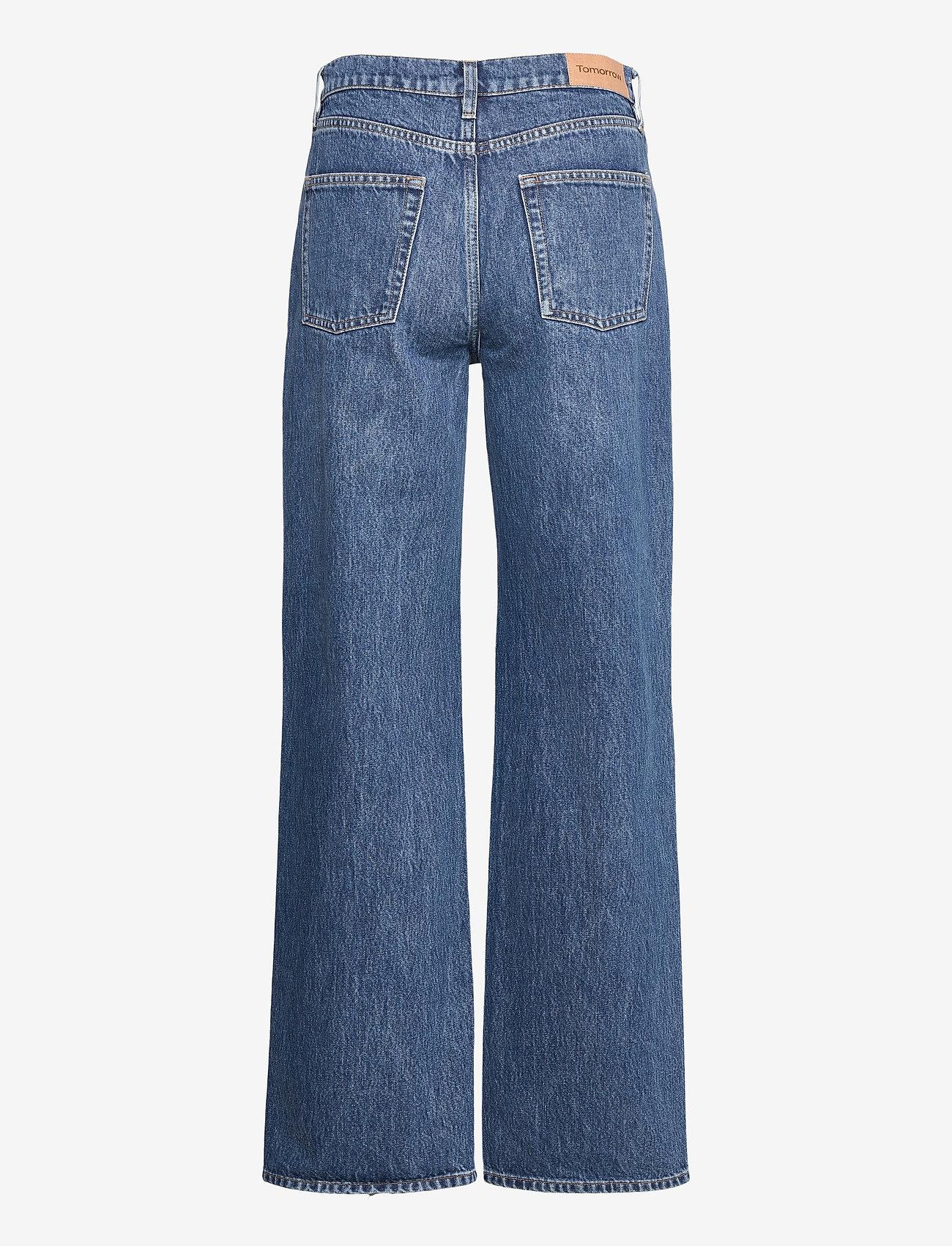 Tomorrow - Brown Straight Jeans Bright Orlando - hosen mit weitem bein - denim blue - 1