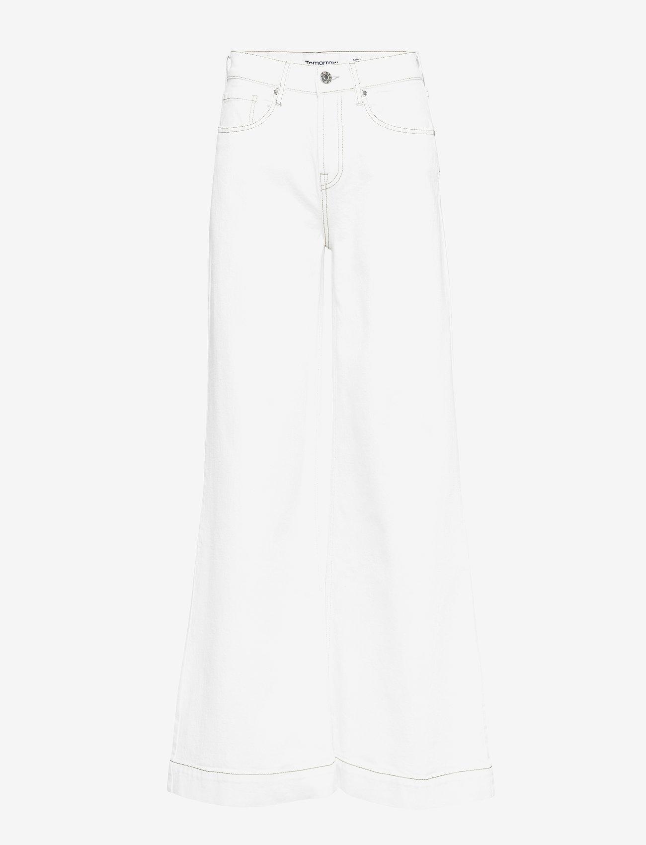 Tomorrow - Kersee HW flare jeans Ecru - schlaghosen - ecru - 0