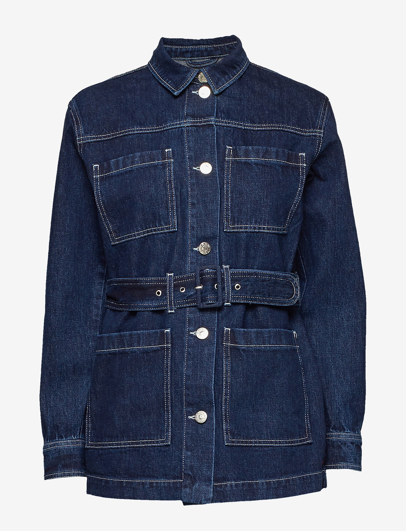 Tomorrow - Mandela uniform jacket dark Oxford - jeansjacken - denim blue - 0
