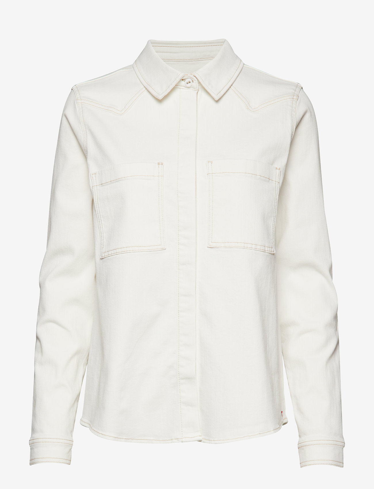 Tomorrow - Bowie Ecru shirt - langärmlige hemden - ecru - 0