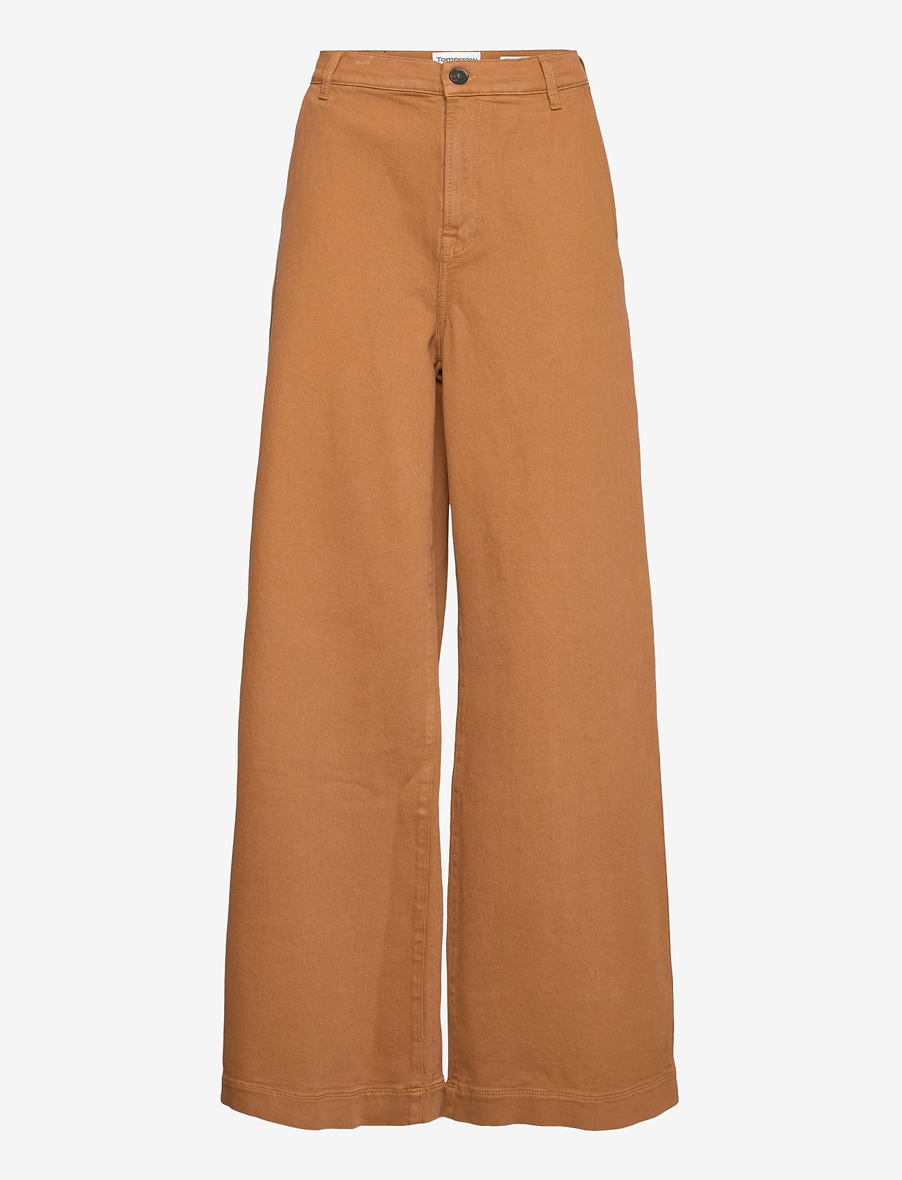Tomorrow - Kersee french jeans antique colour - hosen mit weitem bein - brown - 0