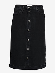 Tomorrow - Hepburn denim skirt original black - jeansröcke - black - 0