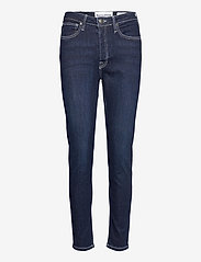 Tomorrow - Hepburn HW mom wash Dark Nashville - slim jeans - denim blue - 0