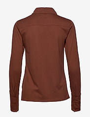 Tomorrow - Nelson jersey shirt - langärmlige hemden - brown - 1