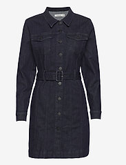Tomorrow - Dylan Denim Dress Raw Indigo - alltagskleider - denim blue - 0