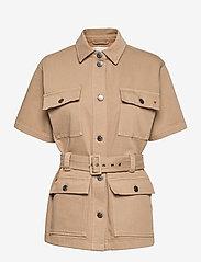 Tomorrow - Mandela SS pocket jacket Khaki - utility-jakker - khaki - 0