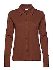Nelson jersey shirt - BROWN