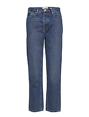 Mandela HW straight jeans wash Oxford - 51 DENIM BLUE