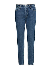 Hepburn HW mom wash Bright Orlando - DENIM BLUE