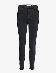 Bowie HW cropped Charcoal - skinny jeans - charcoal grey