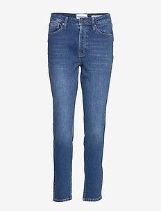 Hepburn HW mom wash Bilbao - straight jeans - denim blue