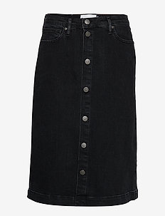 Hepburn denim skirt original black - jeansröcke - black