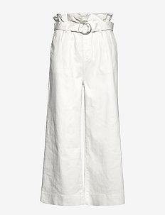 Malala tie-in pant - spodnie szerokie - ecru