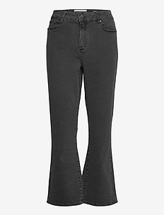 Malcolm kick flare wash Charcoal - schlaghosen - charcoal grey