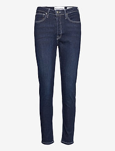 Hepburn HW mom wash Dark Nashville - slim jeans - denim blue