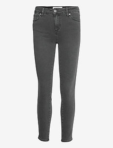 Dylan MW cropped charcoal grey - skinny jeans - grey