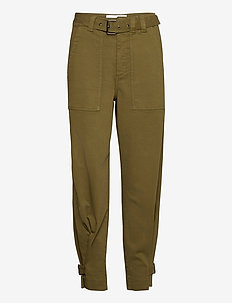 Jackson cargo pant - straight leg trousers - olive