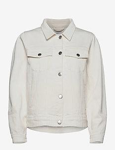 Kersee puff jacket ecru - jeansjacken - ecru