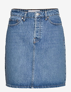 Mandela denim skirt wash bright Orl - jeansröcke - denim blue