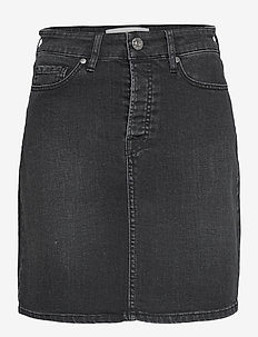 Mandela denim skirt original black - jeansröcke - black