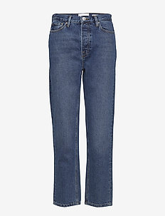 Mandela HW straight jeans wash Oxford - straight jeans - 51 denim blue