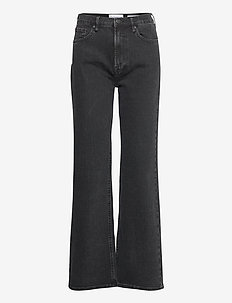 Brown Straight Jeans Original Black - utsvängda jeans - black